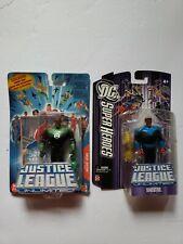 Green Lantern Justice League Unlimited John Stewart & Blue SInestro Figure Lot