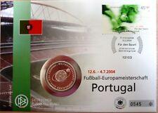 Deutschland Numisbrief 2004 Fussball Europameisterschaft Münze 10 EUR Silber
