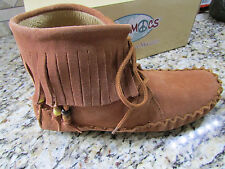 NEW PEACE MOCS MARGARET MOCCASIN SHOES WOMENS 8.5 MID BOOTIES MOCS TAN FREE SHIP