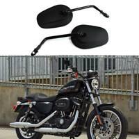 For Harley Davidson Sportster 883 1200 Long Stem Black Motorcycle Side Mirrors F