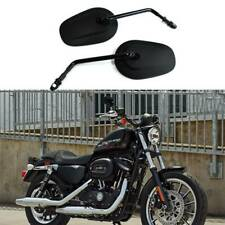 For Harley Davidson Sportster 883 1200 Long Stem Black Motorcycle Side Mirrors F