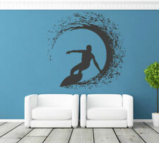 ik1116 Wall Decal Sticker surf board wave ocean Hawaii bedroom