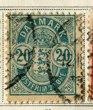 Denmark; 1880s early classic 'ore' issue fine used 20ore. value