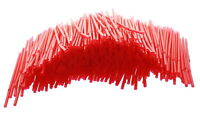 500 Ct Red Flexible Drinking Straws Bendable Soda Party Restaurant Bulk Supplies