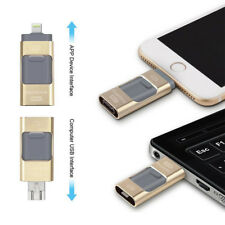 512GB 128GB OTG Dual USB Memory i Flash Drive U Disk For IOS iPhone iPad/PC Gold