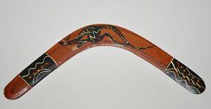 """Boomerang Murra Wolka Creations Australia Aboriginal 16"""" Hand Painted"""