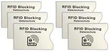 6x RFID Schutzhülle | Kartenschutzhülle Kreditkarte | EC-Karte Hülle Kartenhülle