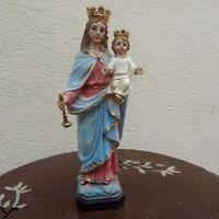 Statue Vierge Marie Auxiliatrice avec l'enfant 20 cm en résine polychrome Paben
