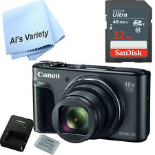 Canon Powershot SX730 HS Digital Camera (Black) and 32GB SD