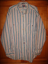 Tommy Hilfiger Red, White and Blue Stripe Button Down shirt XL Mint