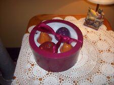 4-Piece Ceramic Lifelike Decorative Artificial Fruit Kitchen Decor NIB