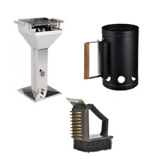 Grill Starter Set - Trichtergrill Kohlestarter Grillreinigerbürste Kohleanzünder