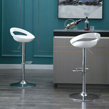 Duhome Gloss Adjustable Swivel Bar Stoolsl with ABS Plastic Seat Set of 2