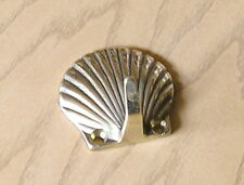 Coat Hook, Shell Design, Italian Cast Brass, 5cm x 10cm Polished Finish
