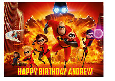 The Incredibles 2 Personalised Birthday Cake Topper on Edible Icing