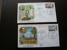FRANCE - 2 enveloppes 1er jour 1970 (branly/de broglie) (cy64) french