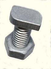 Form B langes Gewinde 25x DIN 186 Hammerkopfschrauben M 8 x 80 4 mit Mutter
