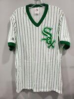 Rare Vintage 80s Majestic Chicago White Sox Alternate Green Jersey Mens XL L