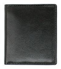 Mens RFID BLOCKING Genuine VT Leather Trifold Wallet Purse Cardholder 4010 Black