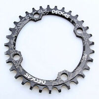 Bicycle Chainring 104BCD 32/34/36/38 Road Bike Round Oval Narrow Wide Chainwheel