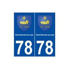 78 Saint-Germain-en-Laye blason autocollant plaque stickers ville droits