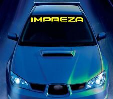 For SUBARU IMPREZA Car VINYL STICKER Bumper Windshield BANNER JDM DECALS Graphic