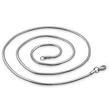 Halskette Schlangenkette Edelstahl  Kette Silber Schlangen Edelstahlkette ME 247