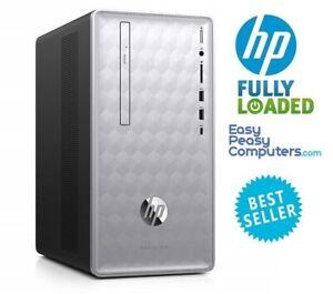 HP Computer Tower PC 8GB 1TB Windows 10 WiFi DVDRW HDMI Bluetooth (FULLY LOADED)
