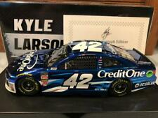 2019 Action Kyle Larson #42 Credit One 1/24 Color Chrome Autographed #042 of 123