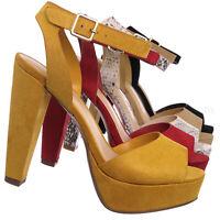 Purify High Block Heel Platform Sandal - Women Ankle Strap Open Toe Dress Shoes