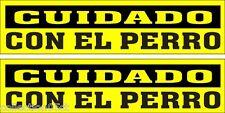 """2 ADHÉSIVOS, """"CUIDADO CON EL PERRO"""", PARA USO EN INTERIORES O EXTERIORES"""