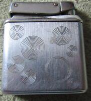 Vintage Kreisler Cigarette Lighter Brushed Stainless, Circular, Round Pattern