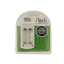 USB Battery Charger for NiMH NiCD AA & AAA Rechargeable Batteries Charging