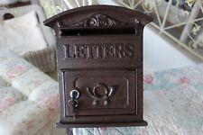 Nostalgie Briefkasten Letters Postkasten Metall 31x27x9cm Braun Retro Shabby NEU