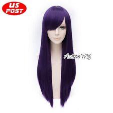 70CM Anime Tales of Vesperia Yuri Lowell Long Straight Purple Hair Cosplay Wig