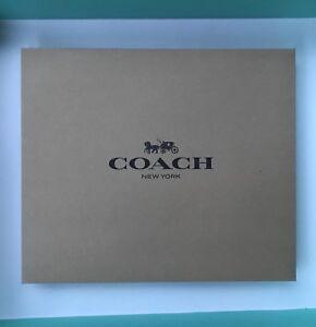 "Coach Gift Box 12.5"" X 10.5"" X 4.5"" Brown Paper Box NEW"