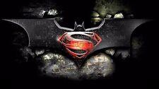 "Superman vs Batman 2015 Movie Fabric poster 43"" x 24""  Decor 32"
