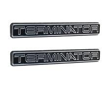 "2003-2004 Mustang Cobra Chrome & Black Terminator Fender Trunk 5"" Emblems - Pair"