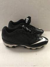 Nike Vapor Shark Football Low Cleats Black White Size 6.5 Fast Flex