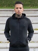 New BBH Mens Tracksuit Gym Hoodie Slim Fit Training Hoody Polyester Zip Up Top