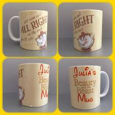 personalised mug cup beauty and the beast belle mrs potts all be alright quote