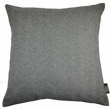 McAlister Textiles Deluxe Herringbone Charcoal Grey and Orange Floor Cushion