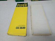 Mann Cabin / Pollen Luftfilter Cu 3649 Ford Transit