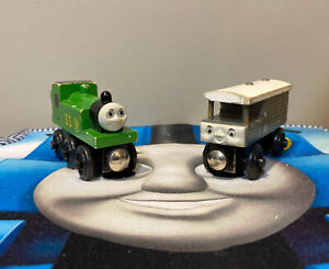 Thomas & Friends Wooden Railway Train Tank Engine OLIVER & TOAD BRAKEVAN 1997/98