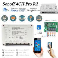 Sonoff 4CH Pro R2 4 Channel Din Rail Mount WiFI Smart Power Switch APP Remote R1