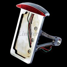 SIDE MOUNT LICENSE PLATE LIGHT BRACKET - LED LIT FOR HARLEY MOTORCYCLE VERTICAL