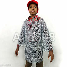 Medieval Chainmail Shirt for Child 10-15 years age Butted Zinc Plated Chain Mail