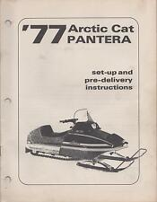 1977 ARCTIC CAT PANTERA SNOWMOBILE SET-UP/ PRE-DELIVERY INSTRUCTION MANUAL(476)