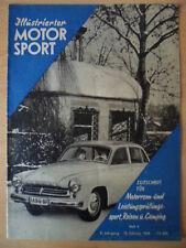 ILLUSTRIERTER MOTORSPORT  10.2. - 4/1958 ** Skikjöring in Oybin Kreidler Florett