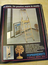 PUBBLICITA' ADVERTISING WERBUNG 1991 SCALA FOPPAPEDRETTI (G47)